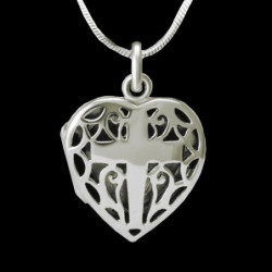 "Locket Pendant Heart ""Cross"""
