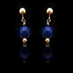 "Earrings ""Lapis lazuli Beads and Gold Filled"" Small"