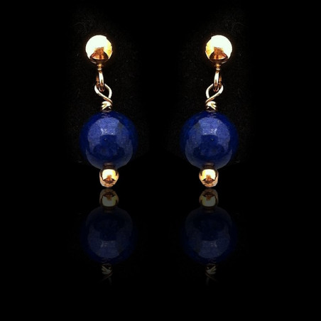 """Earrings """"Lapis lazuli Beads and Gold Filled"""" Small"""