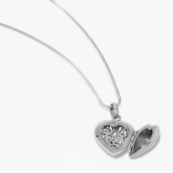 Open Work Heart locket pendant