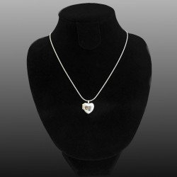 """Petite Amelia"" Heart locket with Cz stone different colors"