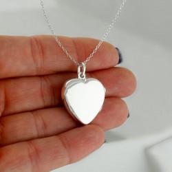 """Heart Locket Pendant """"Joined Hearts"""""""