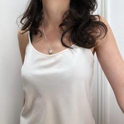 """""""Petite Amelia"""" médaillon pendentif porte photo argent massif"""