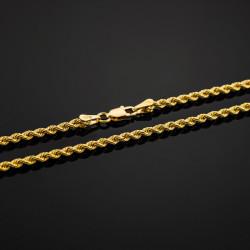 """Catena """"Corda"""" Sfaccettata realizzata in argento sterling 925 placcato in oro 18k"""