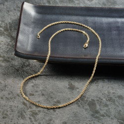 Twisted Rope 18k gold plated 925 Sterling Silver Chain Necklace
