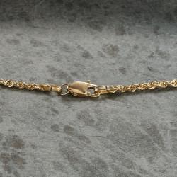 Corde torsadée-collier chaîne en argent sterling  plaqué or 18 carats