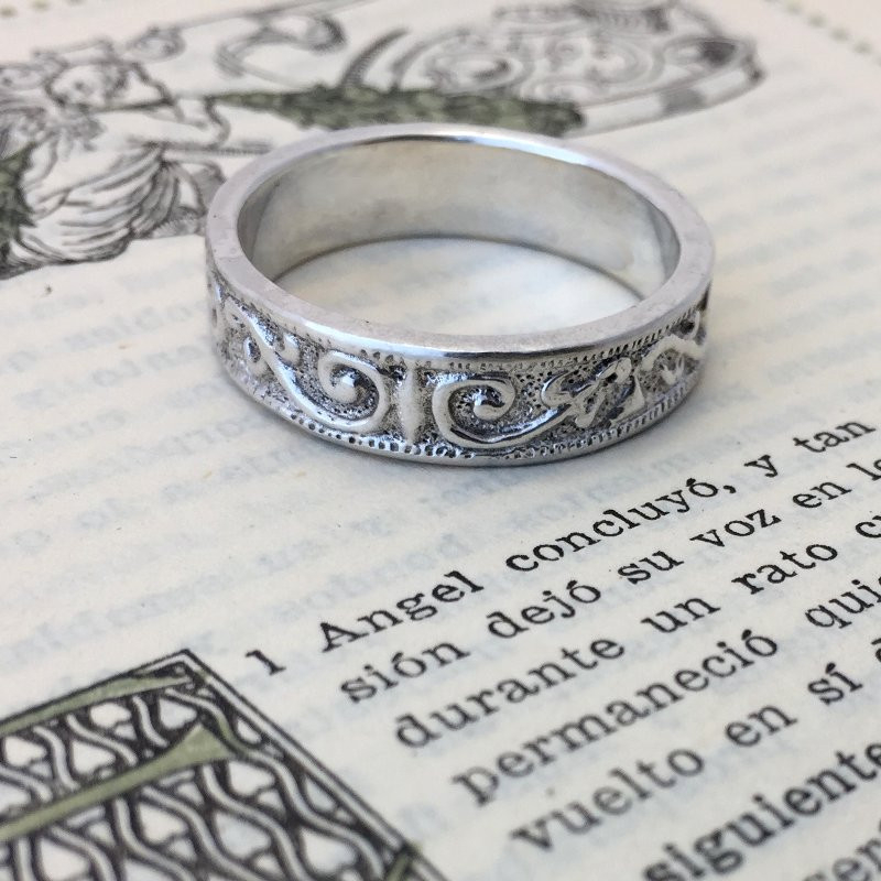 """argolla """"Romanov"""" anillo artesanal antiguo en plata"""