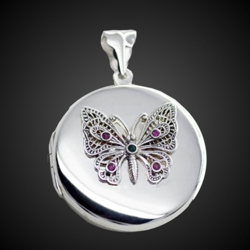 """""""From Cocoon to Butterfly"""" Locket"""