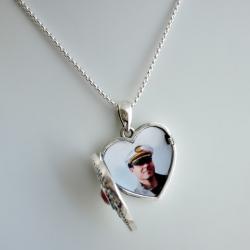 """Princess Alice"" Swarovski crystal Locket Pendant sterling silver"