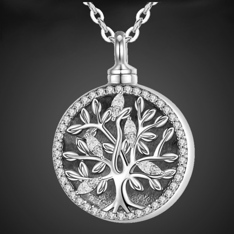"""""""Loral Tree of Life"""" Funeral Pendant sterling silver"""