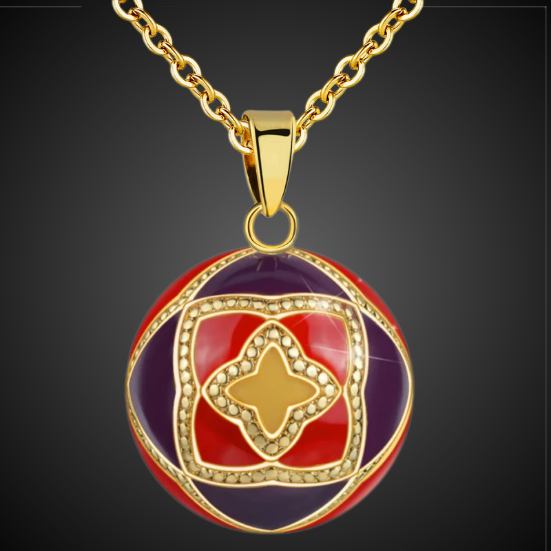 """Pendant Bola of pregnancy, The angel caller, Bell of Angels large """" Magic triple star"""""""