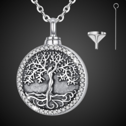 "Ciondolo funebre ""Oak Tree"" in argento sterling"