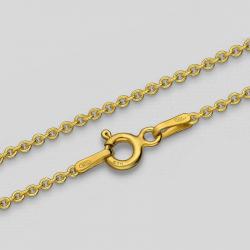 Cadena de cable dorada