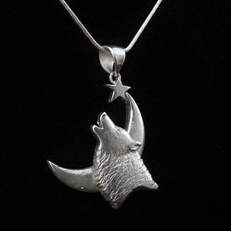 White Wolf silver 3 cm