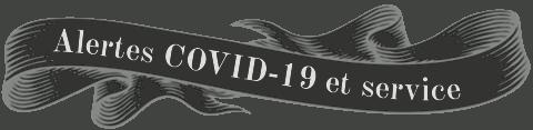 Alertes de service livraison COVID-19